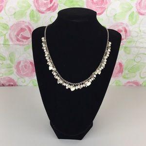 Brighton Precious Pearls Silver Hearts Necklace